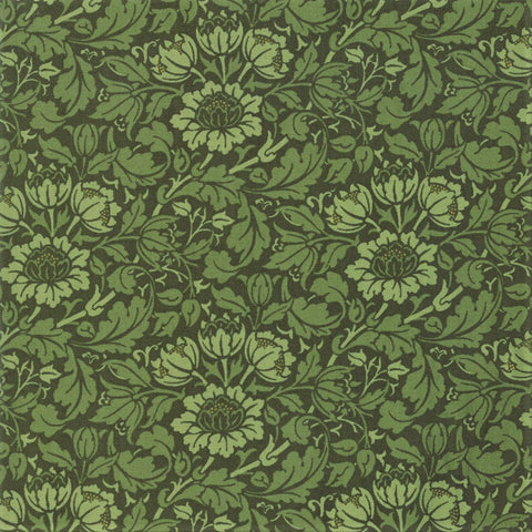 Moda Best Of Morris Fall 33492 18 Pine Flowering Scroll By The Yard