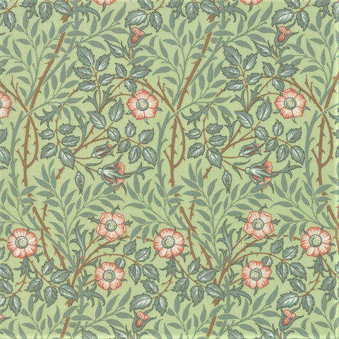 Moda Best Of Morris Spring 33494 13 Sage Sweet Briar By The Yard