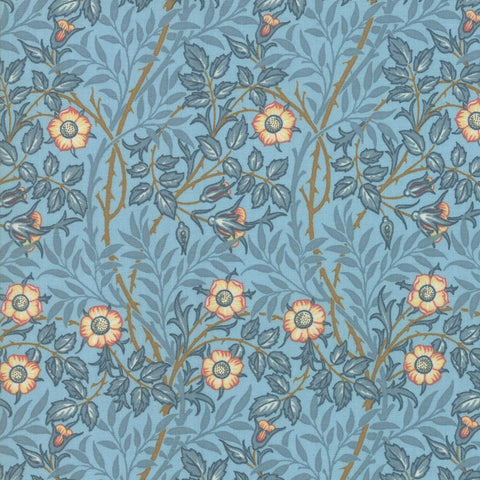Moda Best Of Morris Spring 33494 14 Wedgewood Sweet Briar By The Yard