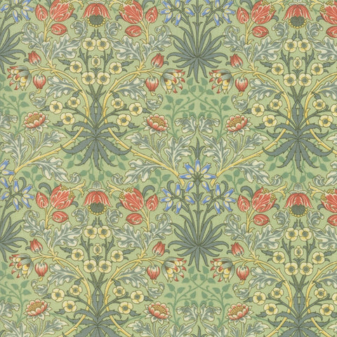 Moda Best Of Morris Spring 33496 12 Sage Hyacinth By The Yard