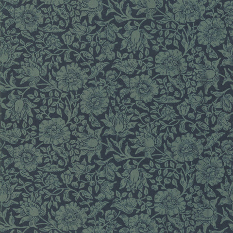 Moda Best Of Morris Fall 33499 25 Indigo Mallow By The Yard