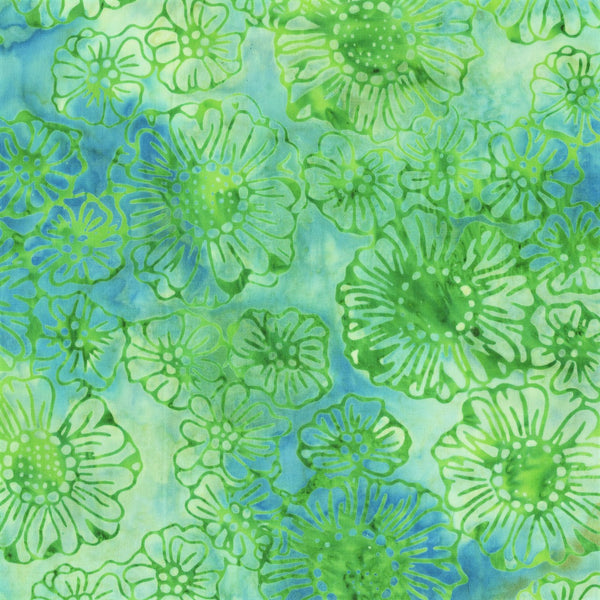 Anthology Batik Bahama Breeze 338Q 10 Haze Garden By The Yard