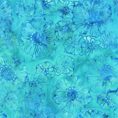 Anthology Bali Batiks 338Q 13 Blue Garden By The Yard