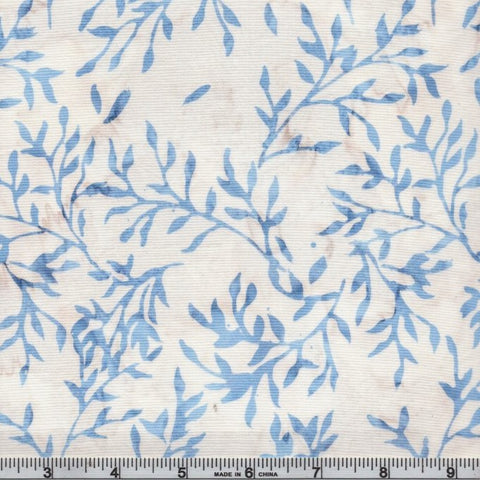 Anthology Batik Sky 340Q 11 White Ditzy Vines By The Yard