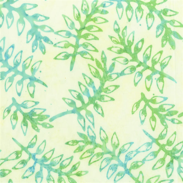 Anthology Batik Bahama Breeze 345Q 3 Seafoam Leafy Stems By The Yard