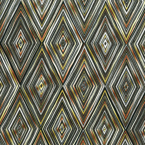 RJR Fabrics Metallic Shiny Objects 3480 1 Diamonds Black & Rose Gold