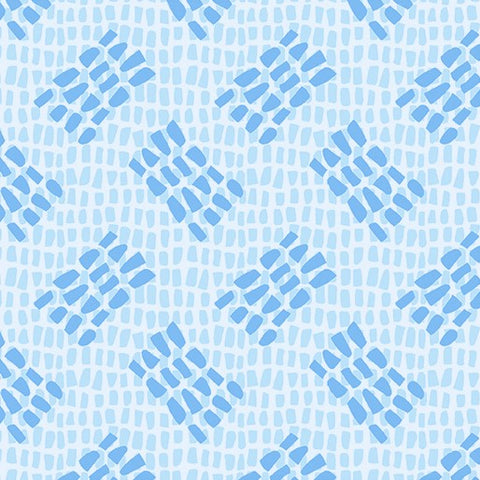 Contempo Abstract Garden 3504 05 Tracks Light Blue By The Yard