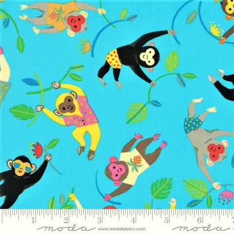 Moda Bicycle Bunch 35331 15 Tropical Waters Cool Monkeys By The Yard