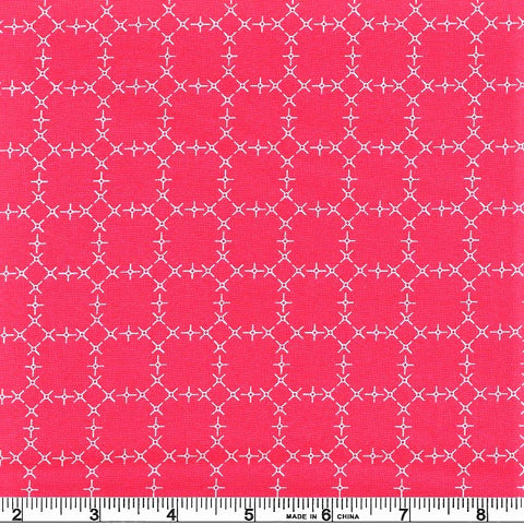 Moda Wanderlust 3543 22 Raspberry Plus Hexagons By The Yard