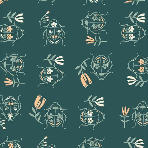 Art Gallery Fabrics Merriweather 36307 June Bug Waltz By The Yard