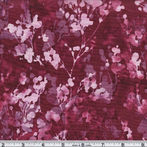Hoffman Batik Twilight Bay 367 1422 Berry Shadow Foliage By The Yard