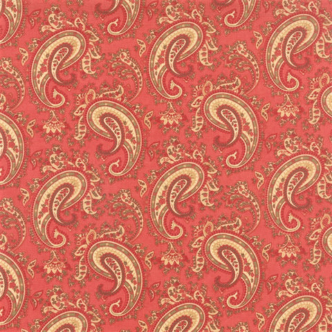 Moda 3 Sisters Favorites 2014 - 3730 15 Rouge Paisley Romantica By The Yard