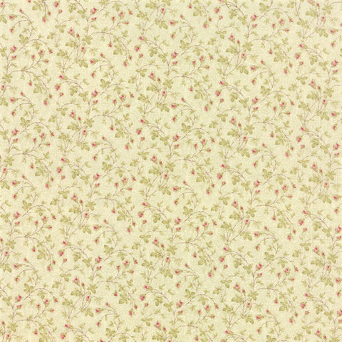 Moda 3 Sisters Favorites 2014 - 3734 19 Seagrass Climbing Rosebuds By The Yard