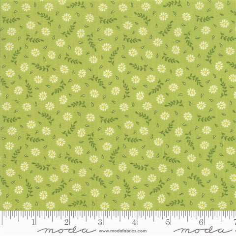 Moda Harper's Garden 37574 15 Lime Little Daisies By The Yard