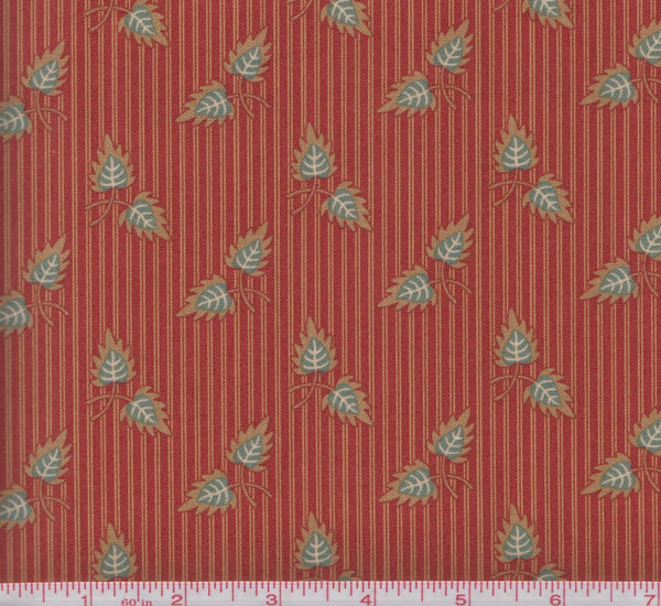 Moda Gratitude 38001 11 Leaves on Striped Background by the yard