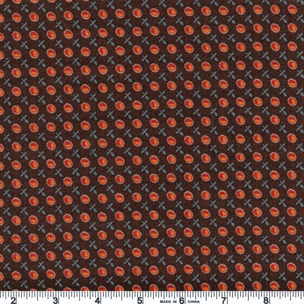 Moda Timeless 38022 14 Brown Ovals & Fauna By The Yard