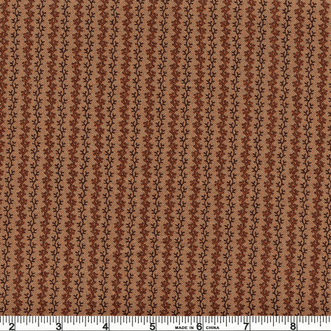 Moda Timeless 3802512 Brown Viny Stripes By The Yard