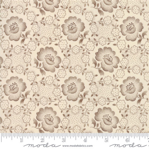 Moda Jo's Shirtings 38040 12 Brown/Parchment Floral Glory By The Yard