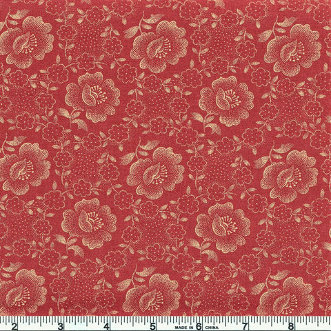 Moda Jo's Shirtings 38040 18 Brick Floral Glory By The Yard