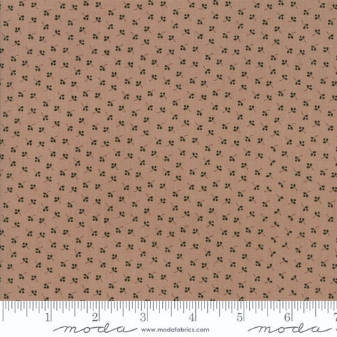 Moda Jo's Shirtings 38042 14 Mocha Tossed Buds By The Yard