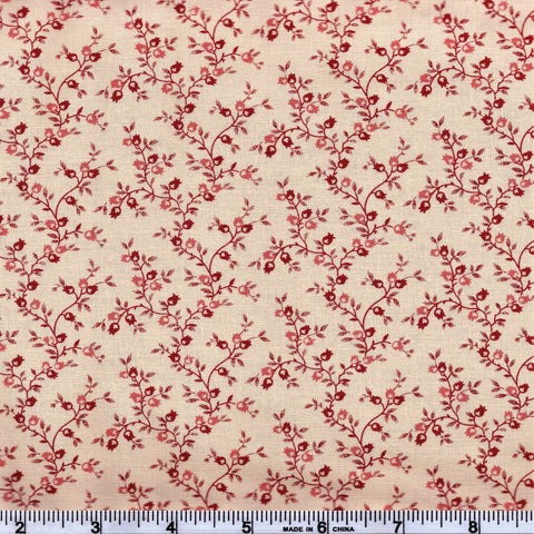 Moda Jo's Shirtings 38044 13 Linen/Brick Reproduction Pomegranate By The Yard