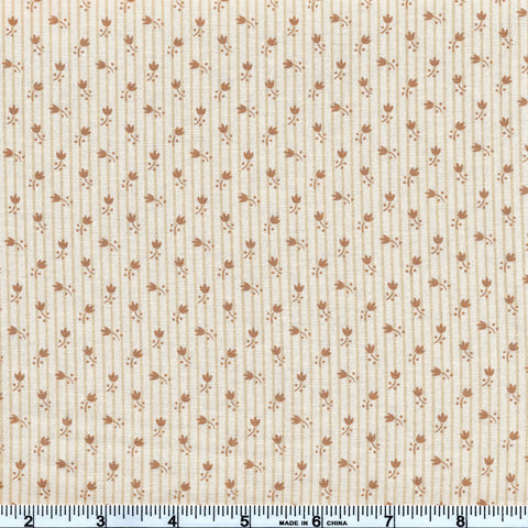 Moda Jo's Shirtings 38045 12 Petite Tulips Tan/Parchment By The Yard