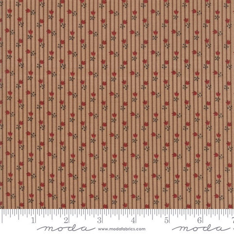 Moda Jo's Shirtings 38045 14 Petite Tulips Mocha By The Yard