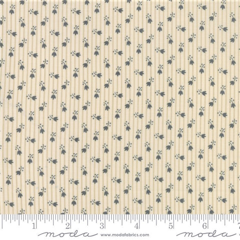 Moda Jo's Shirtings 38045 22 Petite Tulips Charcoal/Parchment By The Yard