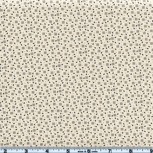 Moda Jo's Shirtings 38046 12 Scattered Parchment By The Yard
