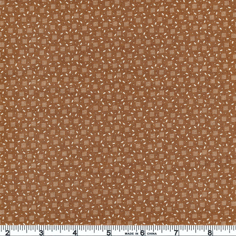 Moda Jo's Shirtings 38046 19 Scattered Brown By The Yard