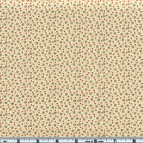 Moda Jo's Shirtings 38046 22 Scattered Creamed Wheat By The Yard