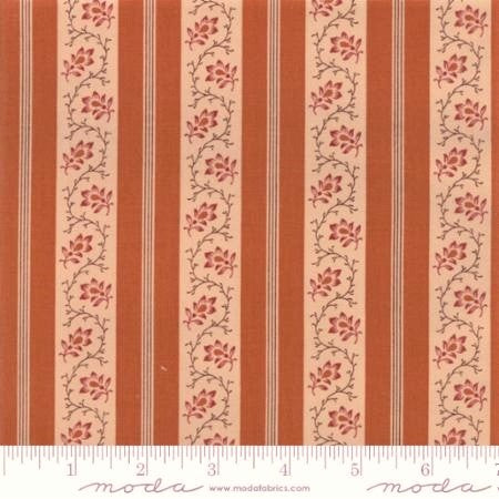 Moda Fabrics Spice It Up 38054 14 Yam Classic Stripes & Vines By The Yard