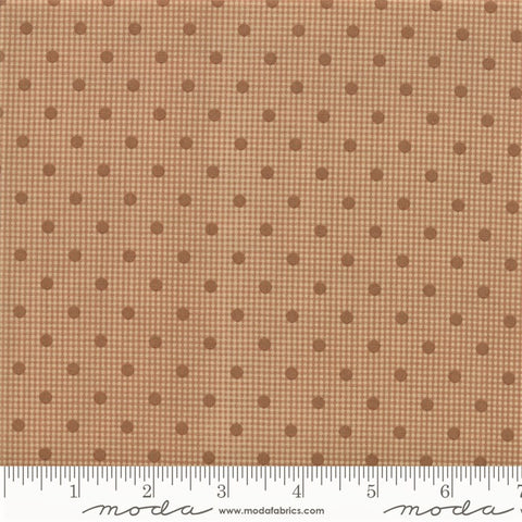 Moda Shelbyville 38073 23 Tan Dotted Gingham By The Yard