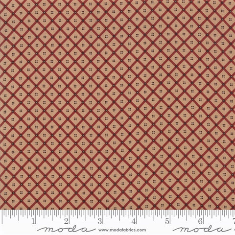 Moda Shelbyville 38075 14 Brick Red Crosshatch Plaid By The Yard