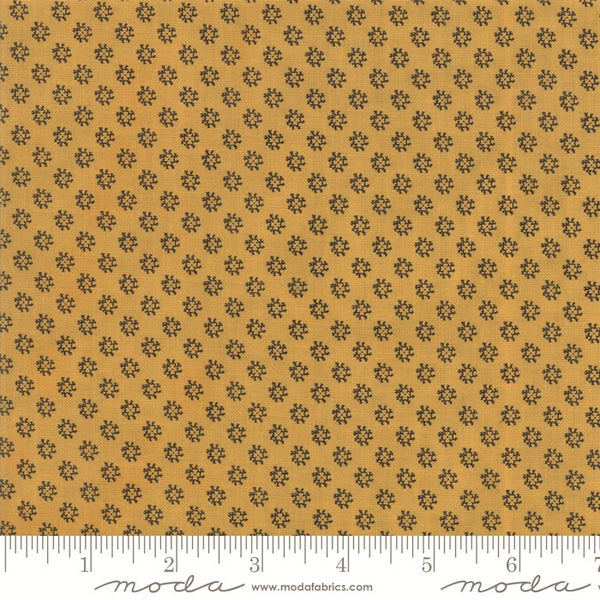 Moda Shelbyville 38077 25 Gold Floral Reproduction By The Yard