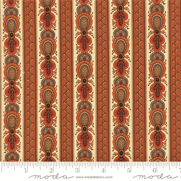 Moda Jo Morton Lancaster 38080 14 Light Rust Lancaster Stripe By The Yard