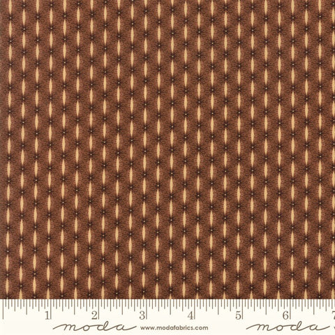 Moda Jo Morton Lancaster 38085 17 Brown Textured Stripe By The Yard