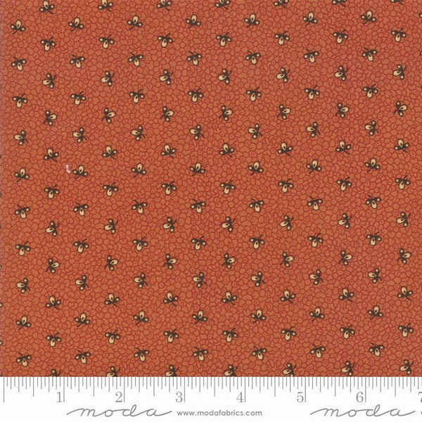 Moda Jo Morton Lancaster 38087 14 Light Rust Cells By The Yard