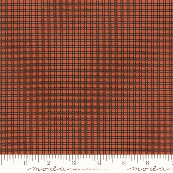 Moda Jo Morton Lancaster 38088 14 Rust Small Plaid By The Yard