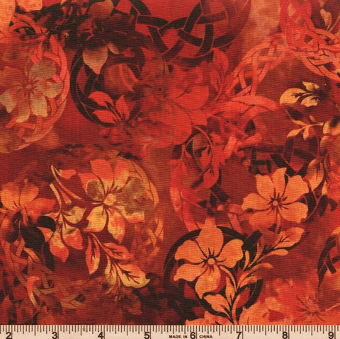 In The Beginning Fabrics Diaphanous 3ENC 1 Spice Celtic Garden By The Yard