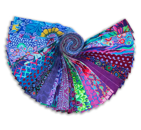 Free Spirit Kaffe Fassett Pre-Cut 40 Piece Jelly Roll - Peacock