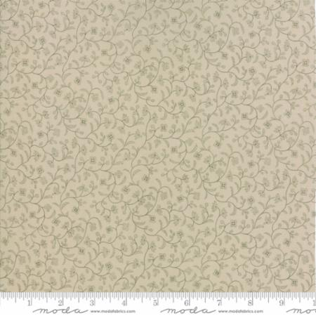 Moda Fabrics Regency Blues 42303 26 Winding Vines Tonal Tan By The Yard