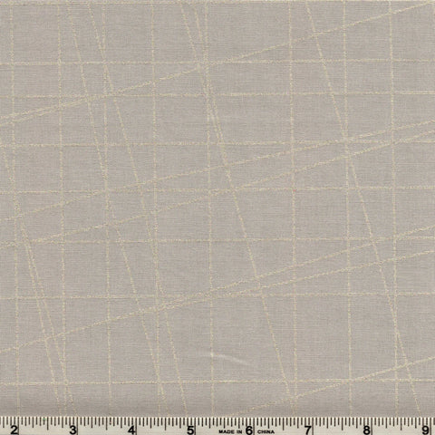 Hoffman Metallic Sparkle And Fade 4324 92S Grid On Grey By The Yard