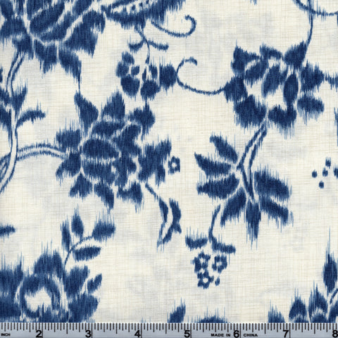 Hoffman Fabrics Natsu 4330 33 Cream Blue Faded Floral By The Yard