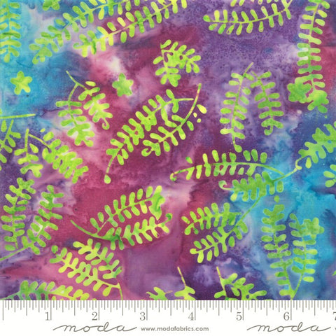 Moda Bahama Batiks 4352 14 Sunset Baby Ferns By The Yard