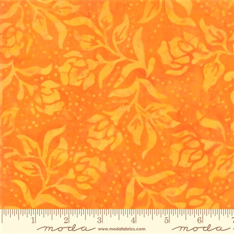 Moda Bahama Batiks 4352 22 Tangerine Dot Dot Flower By The Yard