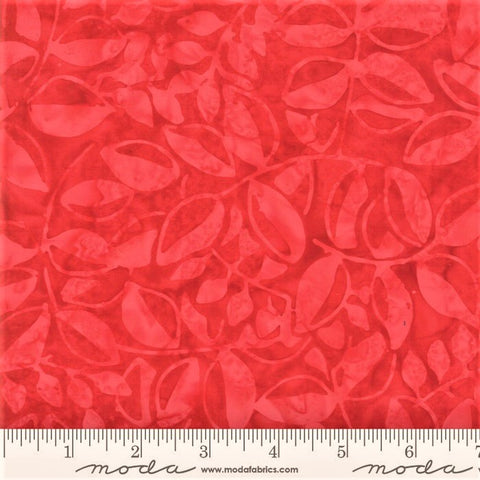 Moda Bahama Batiks 4352 26 Ruby Bahama Leaves By The Yard
