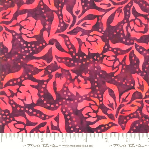 Moda Bahama Batiks 4352 30 Paradise Purple Dot Dot Flower By The Yard