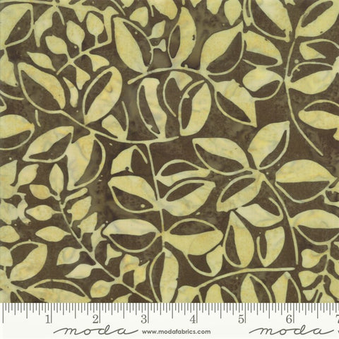 Moda Bahama Batiks 4352 34 Cocoa Bahama Leaves By The Yard