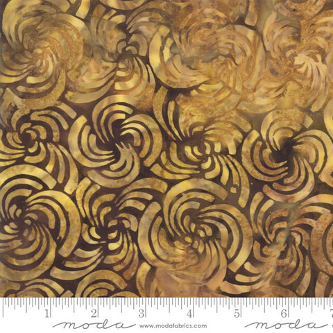 Moda Bahama Batiks 4352 35 Cocoa Petal Swirl By The Yard
